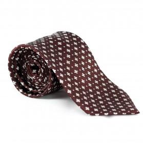 Krawatte Ornament Braun-Weiß