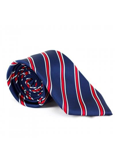 Krawatte Streifen Dunkelblau-Rot