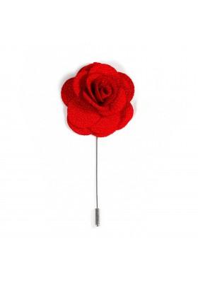 Revers Ansteckblume Rose Rot