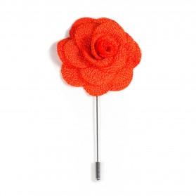 Revers Ansteckblume Rose Orange