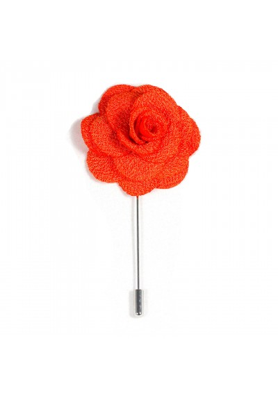 Revers Ansteckblume Rose Orange