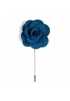 Revers Ansteckblume Rose Türkis
