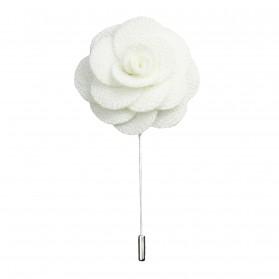 Revers Ansteckblume Rose Weiß