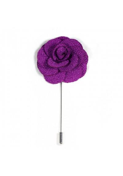 Revers Ansteckblume Rose Violett