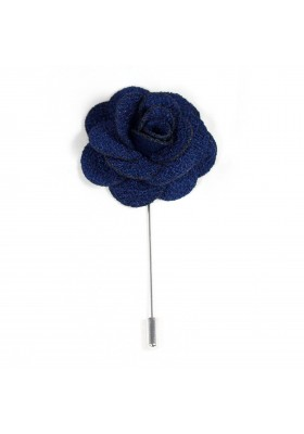 Revers Ansteckblume Rose Dunkelblau