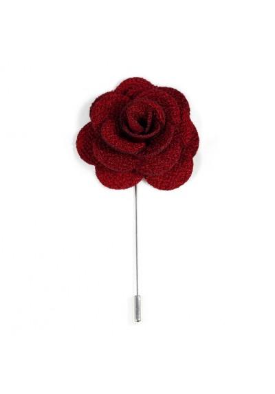 Revers Ansteckblume Rose Bordeauxrot