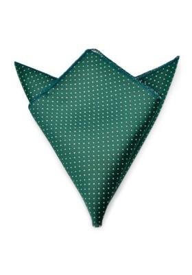 Einstecktuch Grün Weiss Gepunktet
