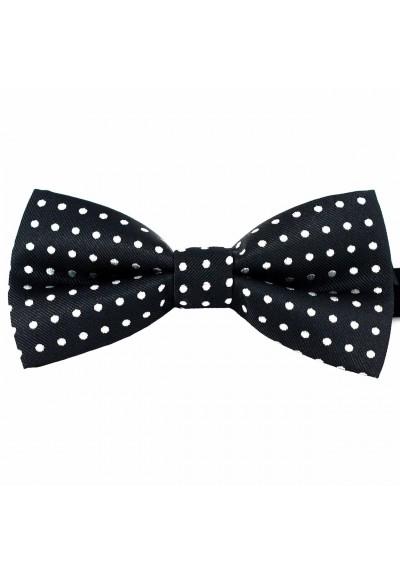 Dressed Fliege Schwarz-Weiß gepunktet