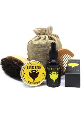 Oalen Bartpflegeset - Bartöl & Bartbalsam + Bartkamm & Bartbürste