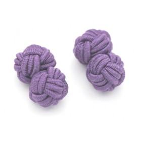 Manschettenknöpfe Seidenknoten Violett