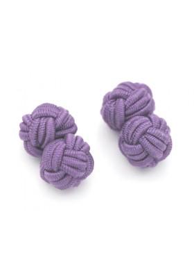 Manschettenknopf Seidenknoten Violett